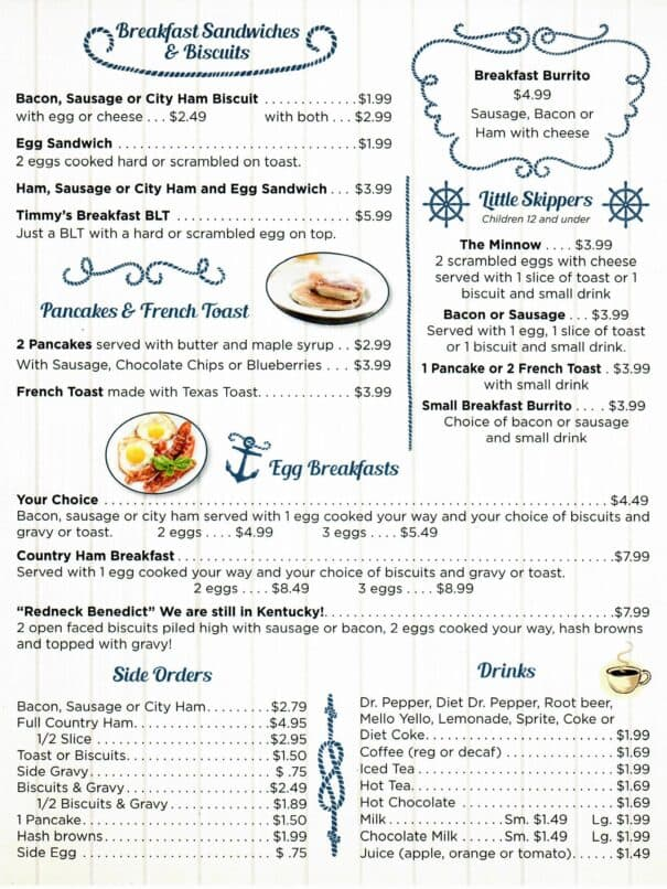 Cindys On The Barge Restaurant Kenlake Marina Menu 4of6