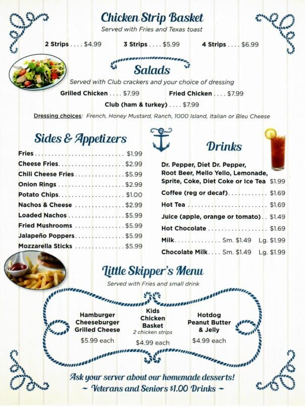 Cindys On The Barge Restaurant Kenlake Marina Menu 5of6