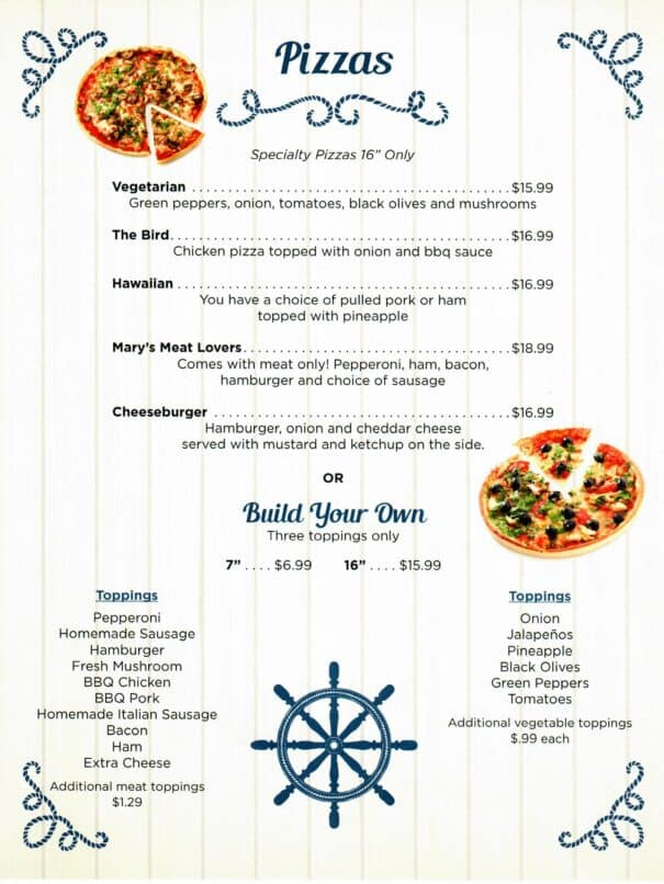 Cindys On The Barge Restaurant Kenlake Marina Menu 6of6