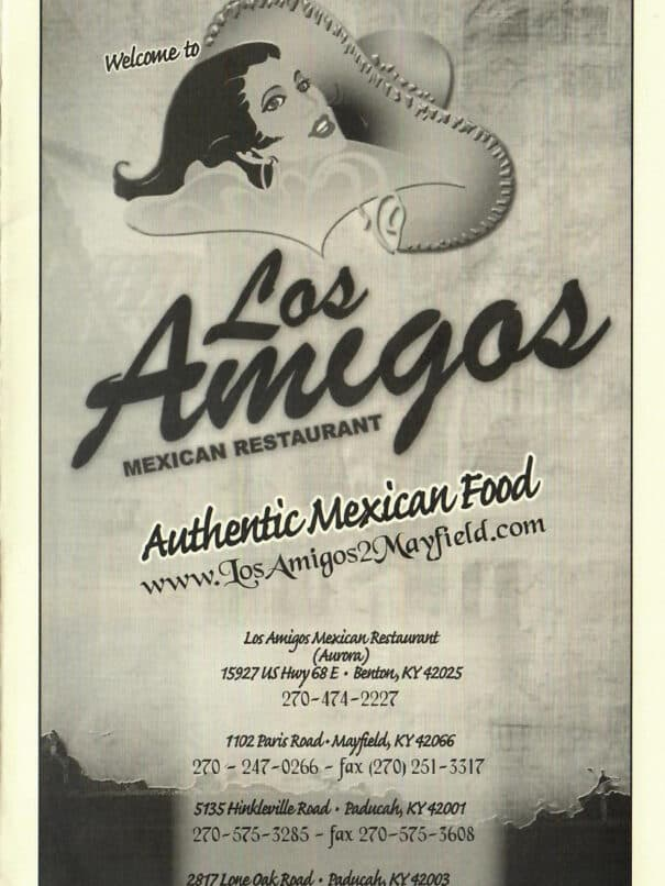 Los Amigos Mexican Restaurant Aurora Kentucky Menu 1of8