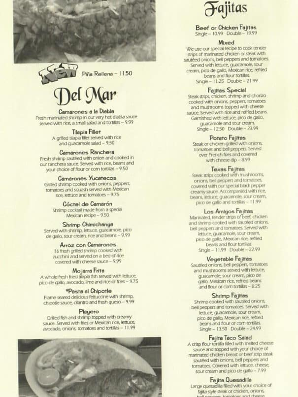 Los Amigos Mexican Restaurant Aurora Kentucky Menu 4of8