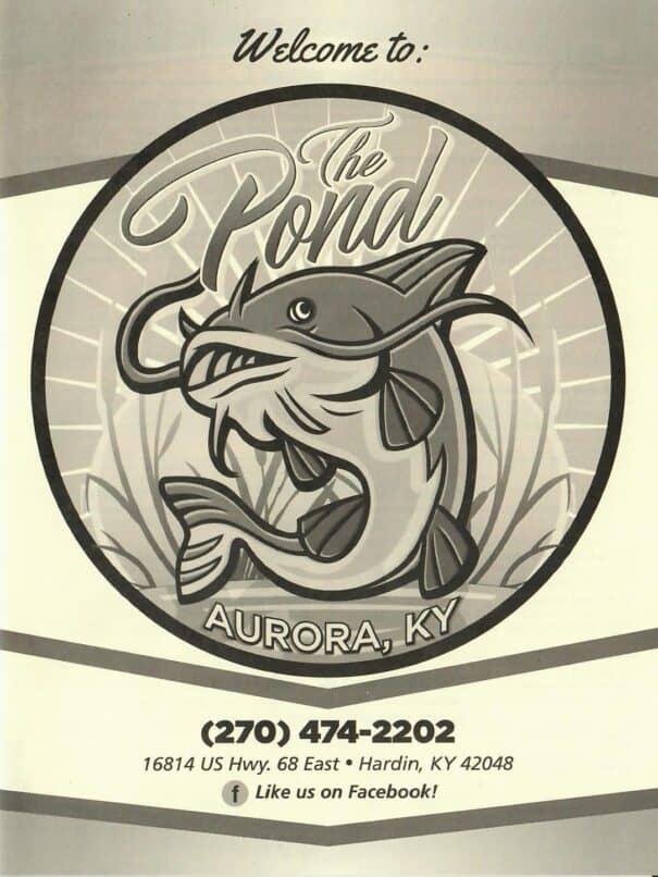 The Pond Restaurant Menu 1of4